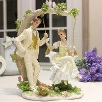 European Style Wedding Gift Creative Practical Wedding Tv Cabinet Cabinet Decor Decoration Craft Room Home Furnishing Swing