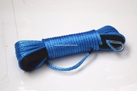Free Shipping Blue 3 16 50ft Synthetic Winch Rope ATV Winch Line Boat Winch Cable 4500lbs
