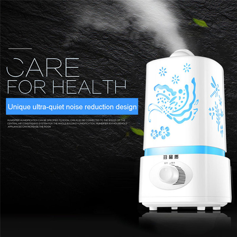 Air Humidifier Essential Oil Diffuser Led Ultrasonic Carve Mist Maker Ultrasonic Diffuser Nebulizer For Home Office High Quality Face Skin Care Tools Skin Care Tool