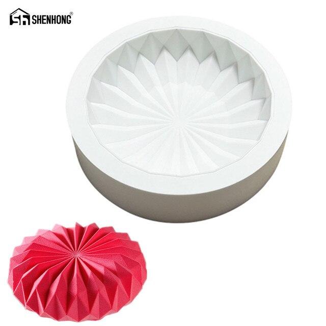 SHENHONG Origami Muffa Della Torta Per La Cottura Dessert Mousse Silicone 3D Sta