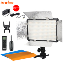 New Godox LED308W II 5600K White LED Remote Control Professional Video Studio Light + AC Adapter hot selling