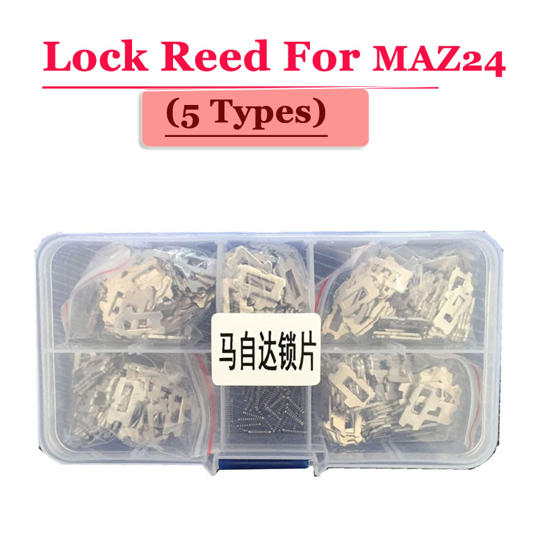 Free shipping (200pcs/box )Maz24 car lock reed locking plate for madza lock (each type 40pcs) Repair Kits 200pcs lot hu92 car lock reed locking plate hu92 car locks tablets lock spring car locksmith tools