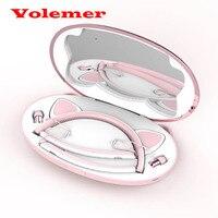 Foldable Wireless Bluetooth Cat Ear Headphone Hair Band Stereo Earphone With Mic Flashing Glowing Headphones For