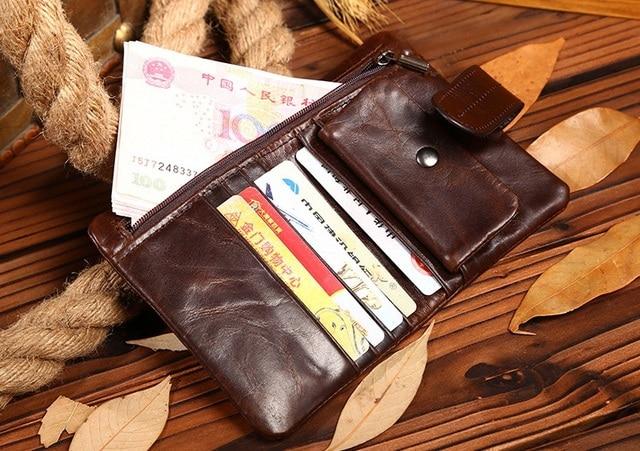 2670e2348d Men Wallets Famous Brand 100% Cowhide Genuine Leather Wallet Men ...
