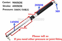 Free Shipping 500N 50KG Force 900mm Central Distance 400 Mm Stroke Pneumatic Auto Gas Spring Lift