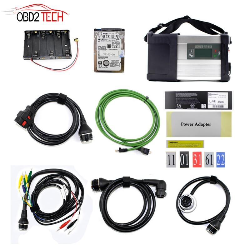 Multi-Language MB Star C5 SD Connect Compact 5 Star Diagnosi con WIFI per Auto e Camion Con Il Più Nuovo 2018.9 HDD di trasporto DTS