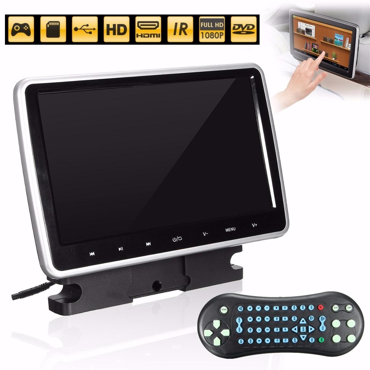 10 pouces LCD 1024X600 Portable voiture lecteur DVD universel voiture LCD lecteur DVD actif HD pour tactile appuie-tête moniteur poignée de jeu