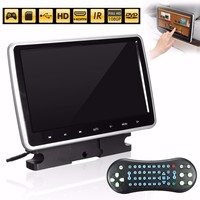 10 inch LCD 1024X600 Portable Car DVD Player Universal Car LCD DVD Player Active HD for Touch Headrest Monitor Game Handle