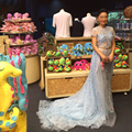 2015 New Arrivals Real Images Full Embroidery Celebrity Dresses A line Formal Gowns Customiz