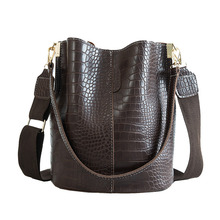 Alligator Women Crossbody Bag Fashion Women Shoulder Bags Famous Brand Pu Leather Handbags Vintage Bolsos Mujer Large Capacity xiyuan brand large women leather handbags famous brand women messenger bags big ladies shoulder bag women brand bolsos mujer red