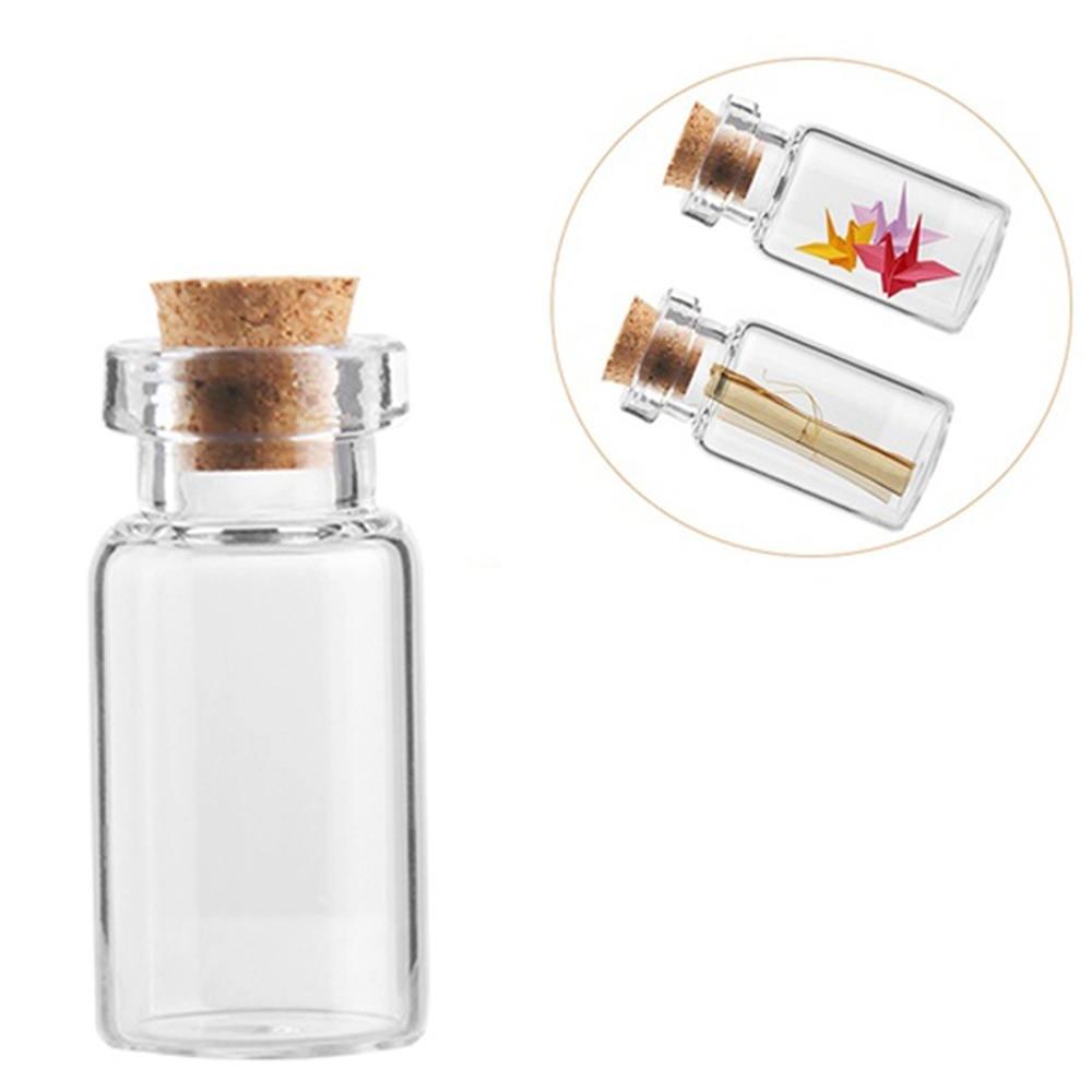 Mini 2ml 16x35mm Empty Clear Wishing Glass Storage Bottles Vials With Cork