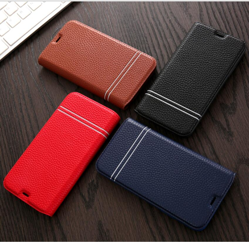 For iphone X 8 7 6 6s Plus Case Litchi Pattern PU Leather Flip Stand Wallet Cover For Samsung Galaxy S8 S8 Plus Cases+Card Slot