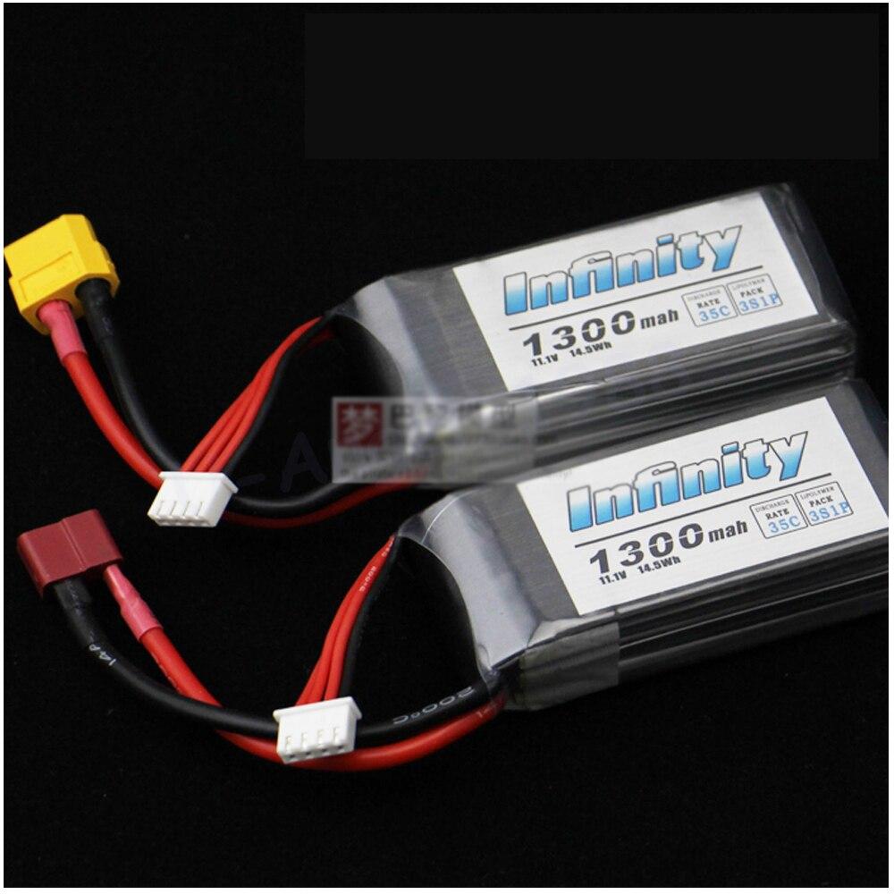 1pc Flower Power Rechargeable Lipo Battery 3S 11 1V 1300mAh 35C T Plug XT60 Plug for