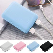 Portable Power Bank Mini Ultra Thin 10000mAh Smartphones Dual USB Ports Mobile Power Bank For iPhone Xiaomi Poverbank Black Blue