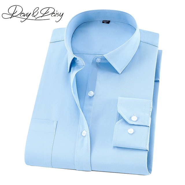 DAVYDAISY Plus Large Size 8XL 7XL 6XL 5XL 4XL Men Shirt Long Sleeved Man Business Causal Formal Shirts Brand Clothing Soft DS274 4