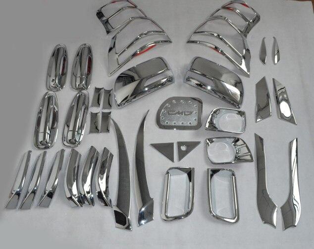 Chrome ABS accessoires externes couvre garniture Kit complet décor pour toyota Prado FJ150 2010-2013