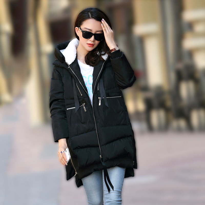 Ccibuy   Parkas   Mujer Winter Jacket Women Coats Hooded Female Thick Cotton Padded Winter Female Coats Women's Thickened long Coat