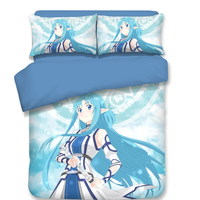 Sword Art Online Japanese Anime Duvet Cover with Pillowcase Twin Full Queen King Single Double Size Bedding