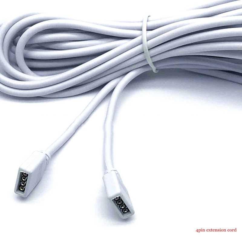 4/pin5Pin Светодиодная лента RGB переходник с удлинителем провода 50 см 1 м 2 м 3 м 5 м 10 м женский кабель шнур для 5050 3528 2835 RGB Светодиодные полосы света