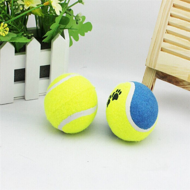 5 X Pet Dog Tennis Ball Toy For Small Medium Puppy Play Training Exercise Fetch