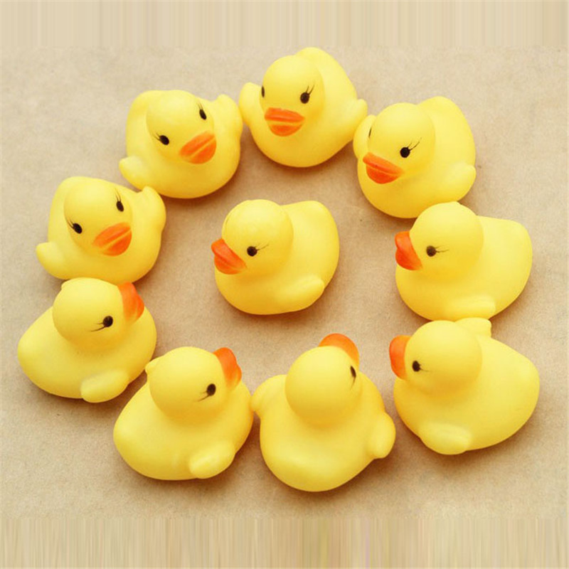 Hot Sales 12pcs Rubber Duck Ducky Duckie Baby Shower Birthday Party Favors Sounding Rubber Free Shipping NOA18