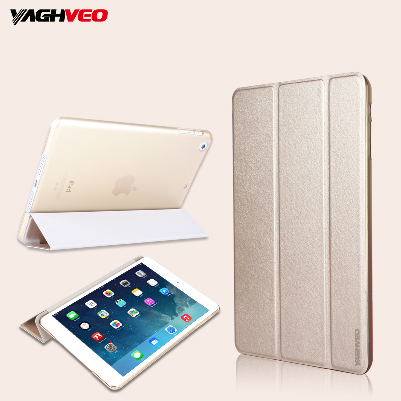 VAGHVEO for IPad Mini 4 Luxurious Silk Case Best Quality Wake Up Fold Stand Leather Case Smart Cover for IPad Mini 4