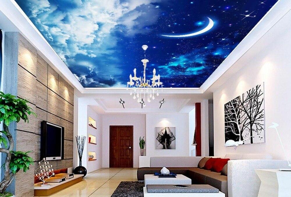 Aliexpress.com : Buy Wallpaper 3d Mural Ceiling Home Decoration Star Moon Cloud Ceiling 3d