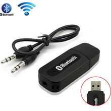 2016 Hot wireless portable mini Black bluetooth Music Audio Receiver Adapter 3.5mm Stereo Audio for iPhone Android phones