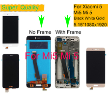ORIGINAL For Xiaomi Mi 5 Mi5 LCD Display Touch Screen Digitizer Pantalla monitor Mi5 Pro Prime LCD Assembly Complete With Frame original for highsrceen power 5 pro lcd five pro display touch screen sensor complete digitizer with touch buttons assembly