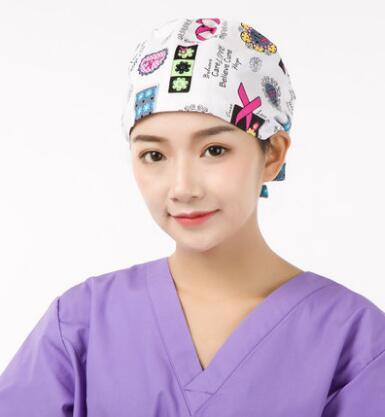2018MT Lab Coat Hospital Operation Surgical Cap Women Medical Caps for  Doctors Nurse 100% Cotton Adjustable Length At Back 58 6acaefeafbfb