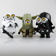 8″ Despicable Me Minions Minion Cosplay Star Wars Darth Vader Stormtrooper Yoda Boxed 20cm Action Figure Model Toy B0422