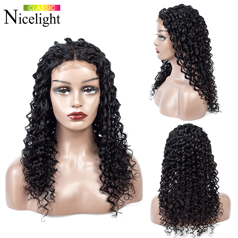 Deep Wave Closure Wig Human Hair Wigs Nicelight 4X4 Closure Wig Peruvian Lace Closure Wigs Deepwave Wig Human Lace Wigs