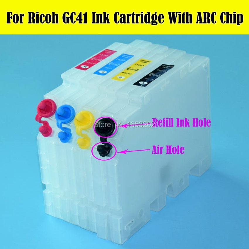 4PC/Lot Empty GC 41 For Ricoh GC41 For Ricoh SAWGRASS SG400 SG800 SG400NA SG400EU SG800NA SG800EU Printer Refiltable Cartridge best chip resetter for ricoh gc21 use for ricoh gx7000 gx5050n gx5000 gx3050sfn gx3050n