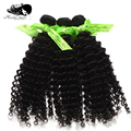 """7A Unprocessed Peruvian virgin deep curly,hair extention ,3pcs/lot 100g/pcs (12""""-28"""") natural color, best quality supply."""