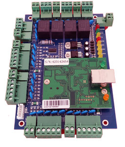 Image 1 - TCP/IP four Door access Control,Network access control board for access  system / time attendance support RFID QR reader sn:L04