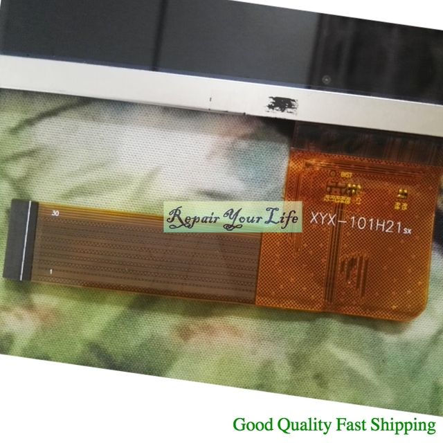 Dobry Tablet LCD XYX 101H21 do Archos 101c 101b Helium AC101CPL zamiennik AL0728A,754XPN101F03001 wyświetlacz LED 232*142mm,30pin