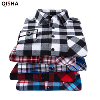 2015 New Men S Plaid Long Sleeved Flannel Shirt Slim Fit Spring Men S Business Casual