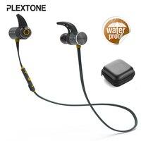 Plextone BX343 Sports Bluetooth Earphone IPX5 Waterproof Stereo Bass Music Earbud Magnetic Headset Earphone With Microphone