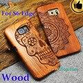 Top Quality Real de madera para Samsung Galaxy S6 S6 borde S6 borde más la caja cubierta de madera de madera Real Fundas Coque para la galaxia S6 borde