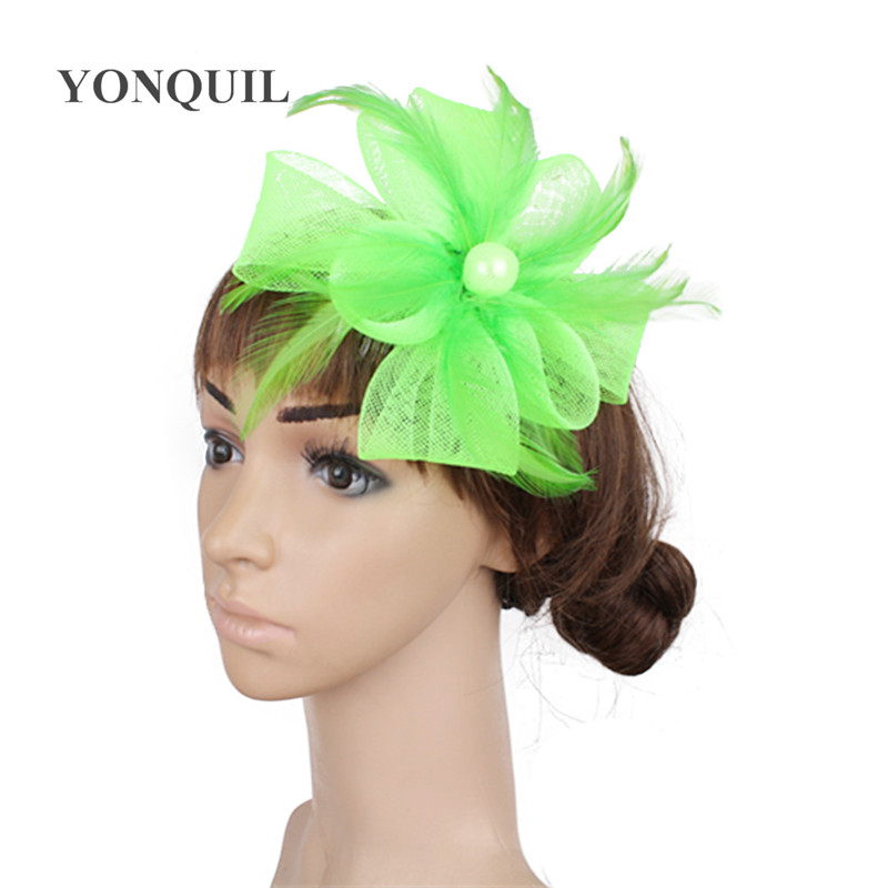 43fe71c6 Aliexpress.com : Buy PROMOTION Ladies cheap feather flowers kentucky derby  fascinators for wedding hats bridal hair accessories cocktail hats P04 from  ...