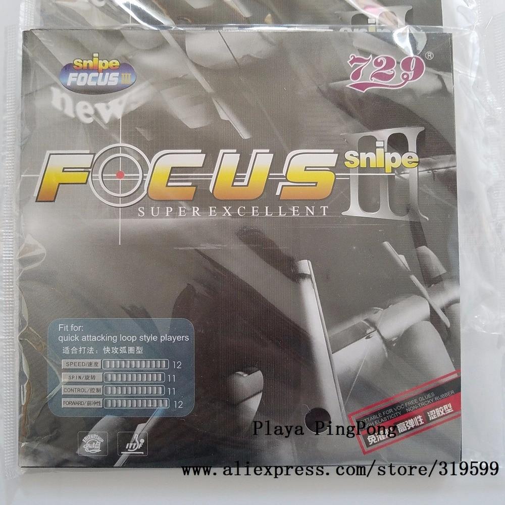1x 729 Snipe FOCUS 3 III (Attack + zanka) Pips-In namizni tenis (PingPong) Guma z gobico
