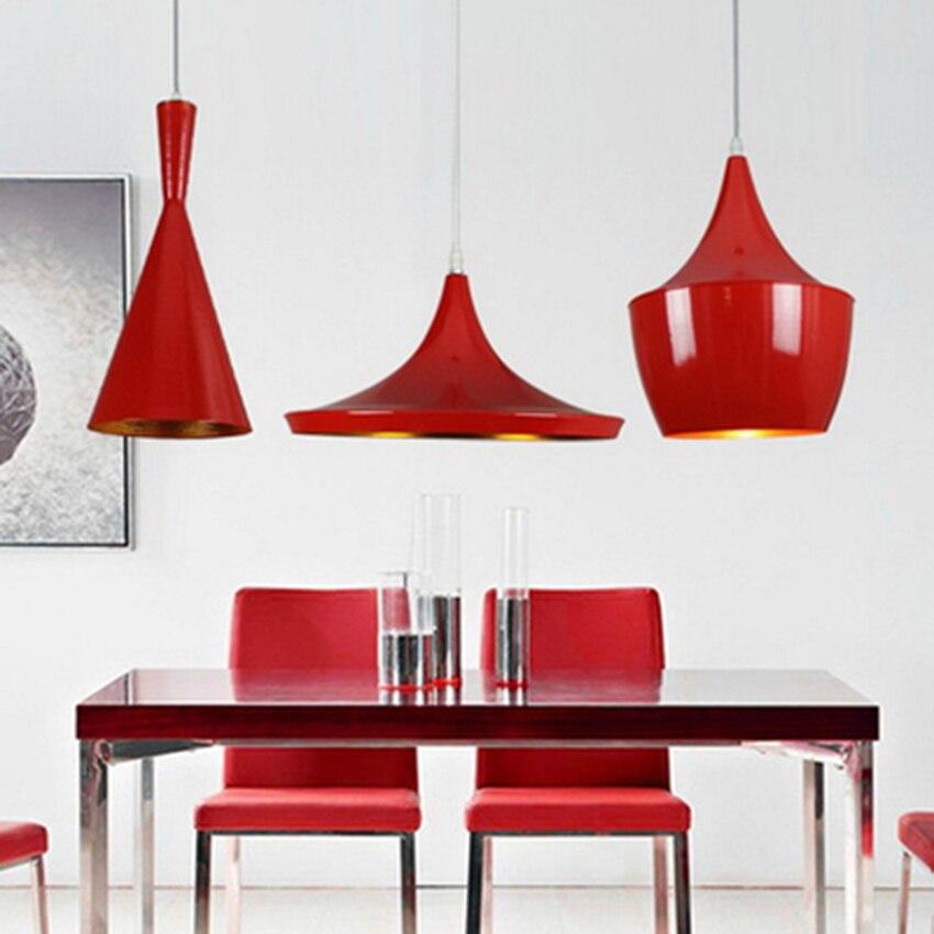 Modern Led Red Aluminum Pendant Lights Living Room Restaurant Cafe Bar Bedroom Lighting Lamp Pendant Luminaria Kitchen FixturesModern Led Red Aluminum Pendant Lights Living Room Restaurant Cafe Bar Bedroom Lighting Lamp Pendant Luminaria Kitchen Fixtures