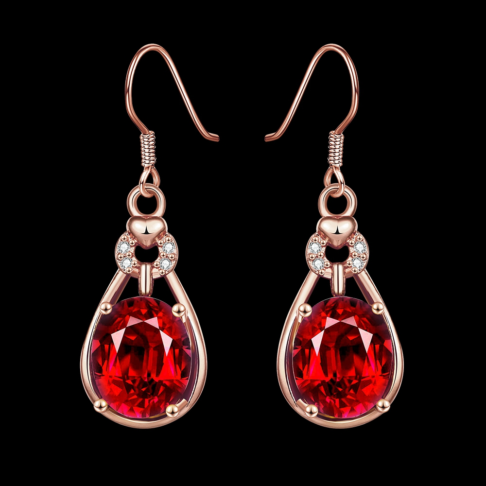 Qiming Amazing Saphire Fashion Jewelry Royal Red Dangle Earrings Zirconia  Party Gifts Silver Filled Crystal Wedding Earringsin Drop Earrings From  Jewelry