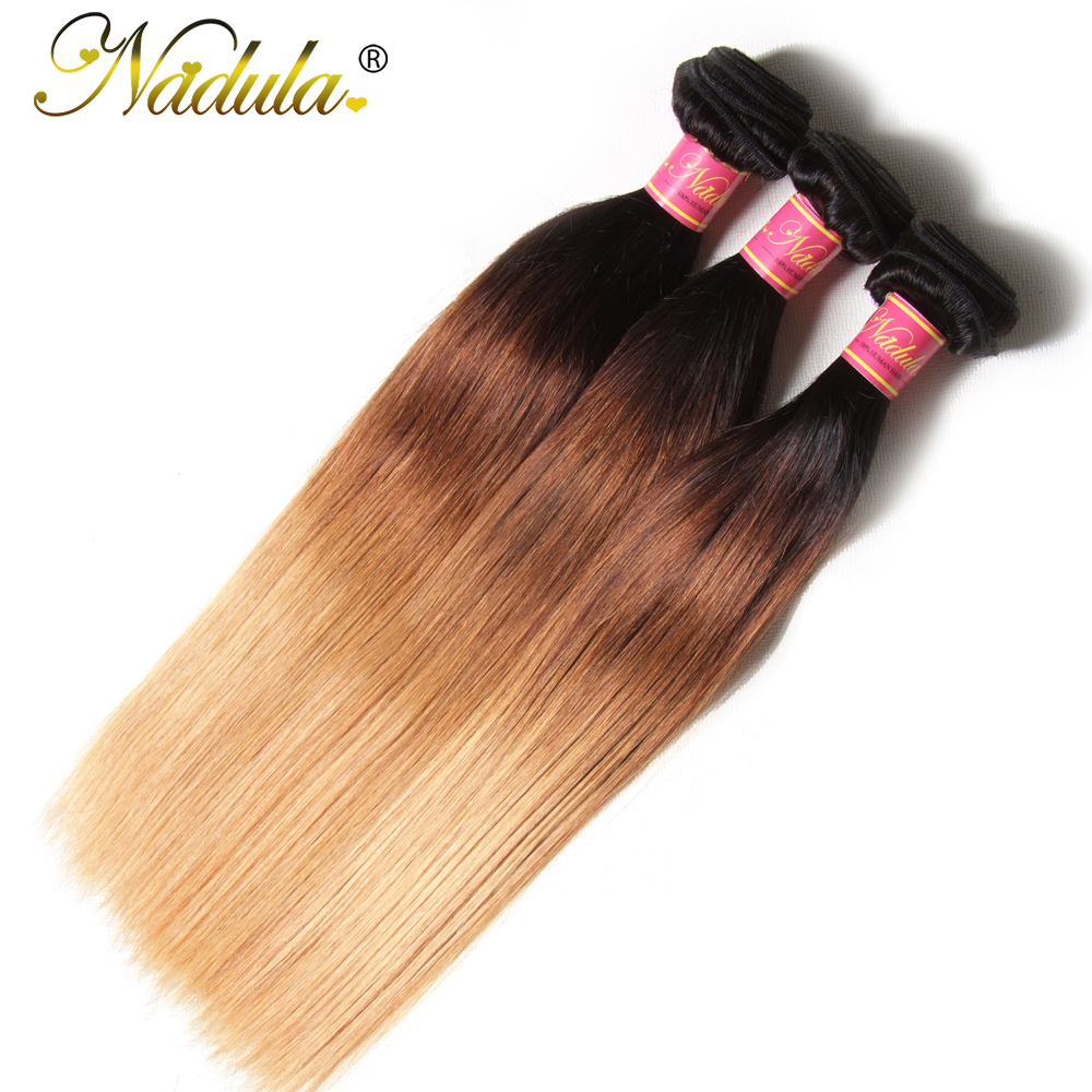 Nadula Ombre Hair Bundles 16-26inch  Straight  s 1B/4/27 Color  Hair  3