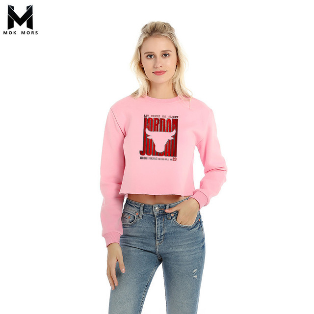 c02c97c5c64 Autumn Women s Cow Head Print Round Neck Sexy Short Paragraph Womens Hoodies  Fashion Casual Long Sleeve Cotton Woman Hoodie