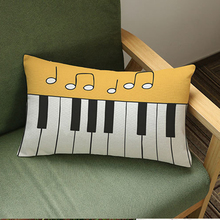 Piano Music Pillow Cover
