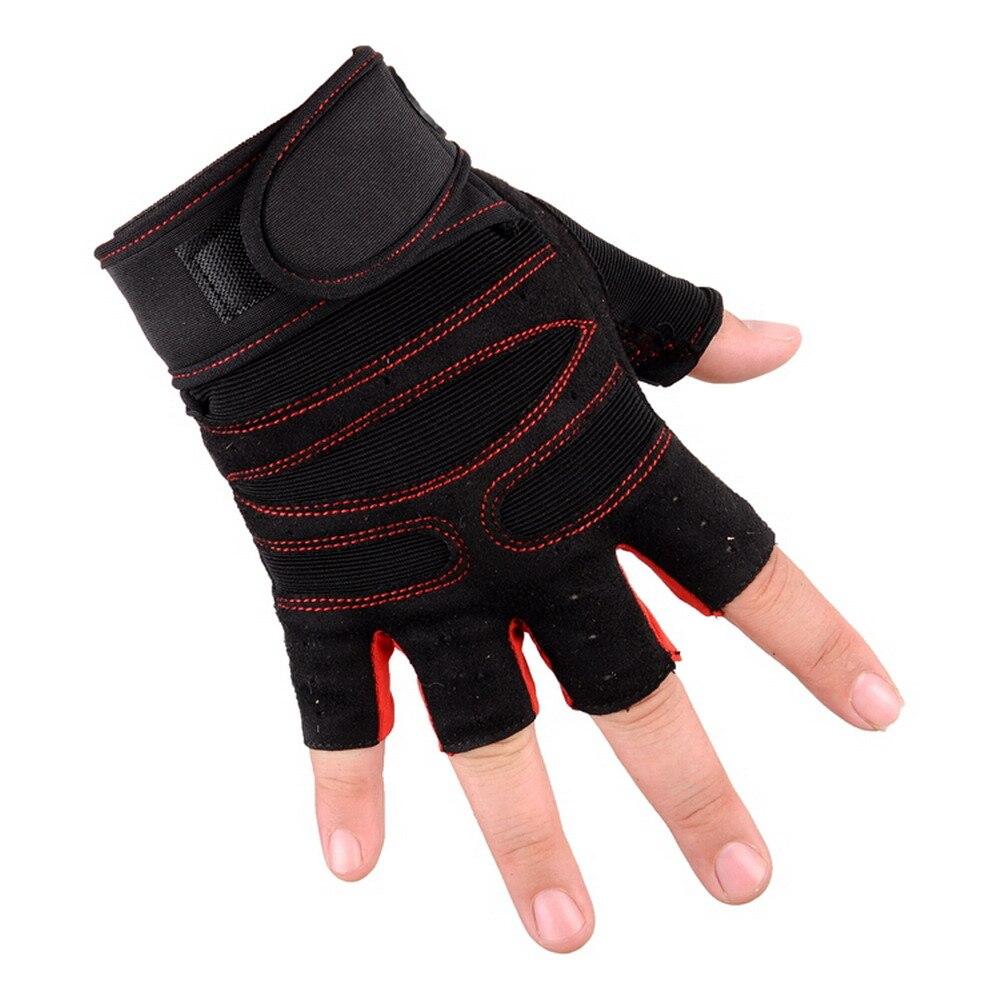 2pcs Weight Lifting Glove Half Finger Anti-skid Gym Training Fitness Gloves Bodybuilding Workout Sports Gym Gloves