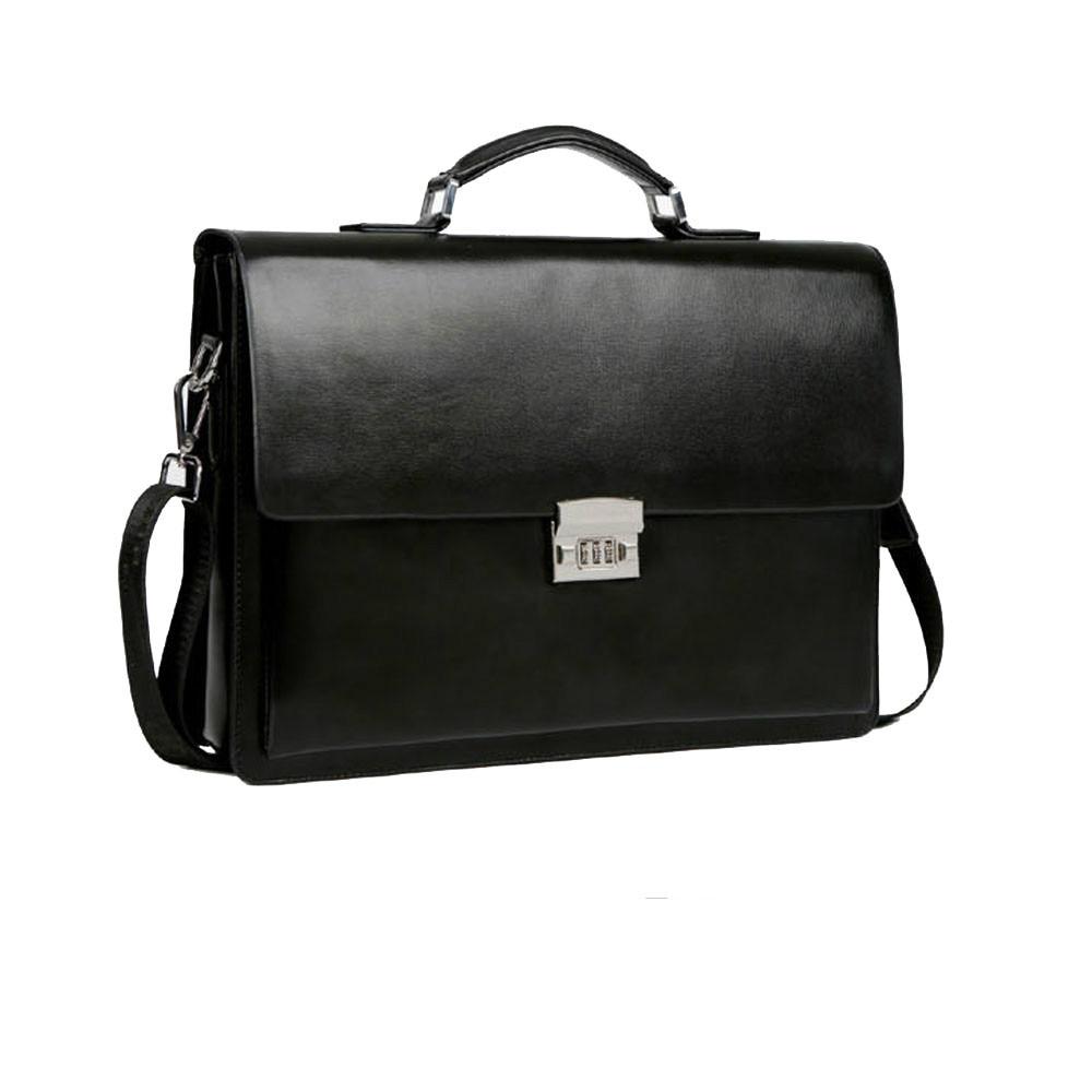 Business Man Bag Theftproof Lock PU Leather Briefcase Bag High Quality Leather Laptop Handbags Man Luxury Bag Shoulder Bags