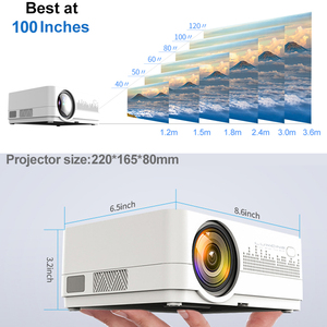 Image 4 - WZATCO HD 720P 150inch Portable Mini 3D LCD LED 4k Projector Android 9.0 WIFI Optional Home Theater Game Movie Cinema Proyector