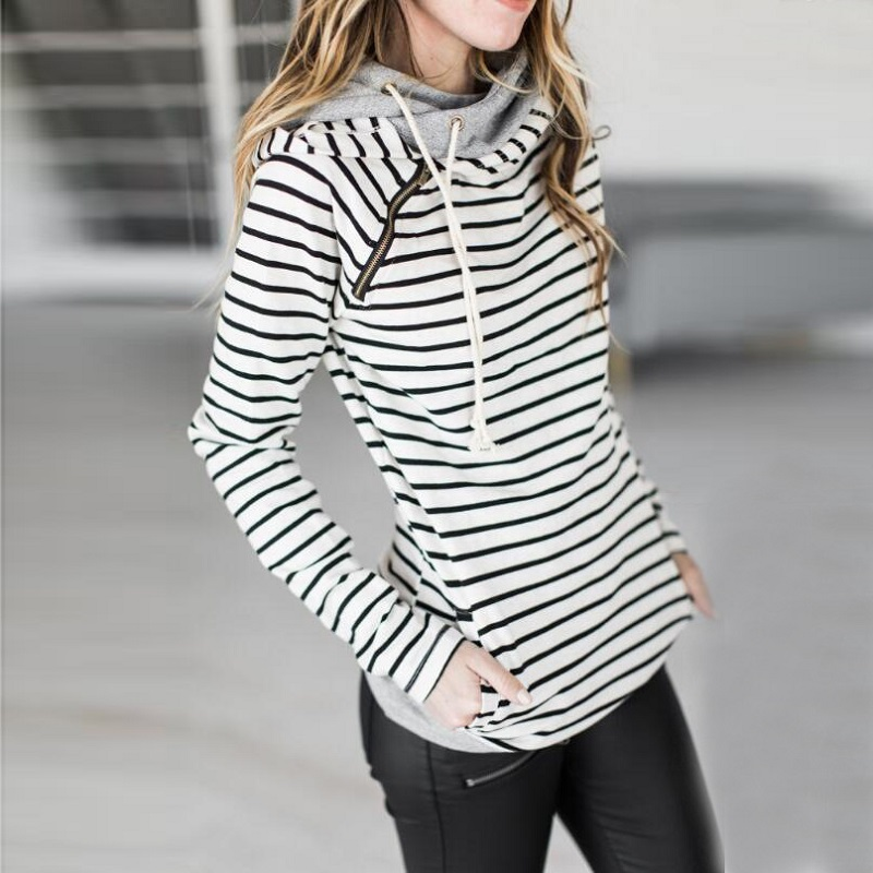 elsvios 2017 double hood hoodies sweatshirt women autumn long sleeve side zipper hooded casual patchwork hoodies pullover femme ELSVIOS 2017  hoodies, Autumn Long Sleeve HTB15rSChQ